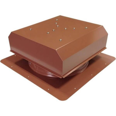 Image of Self-Flashing 60 Watt Detached GEN 2 Solar Attic Fans From Attic Breeze AB-6022D - Hickory