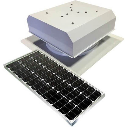 60 Watt Self Flashing Solar Attic Fan With Detached Solar Panel from Attic Breeze