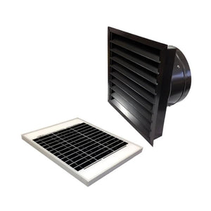 20 Watts Wall Mount GEN 2 Solar Attic Fans From Attic Breeze AB-2062