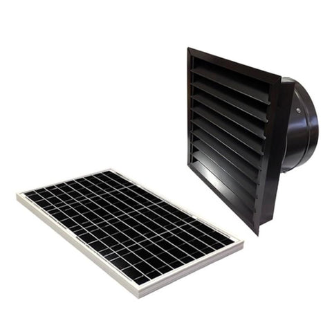 Image of 40 Watts Wall Mount GEN 2 Solar Attic Fans From Attic Breeze AB-4062