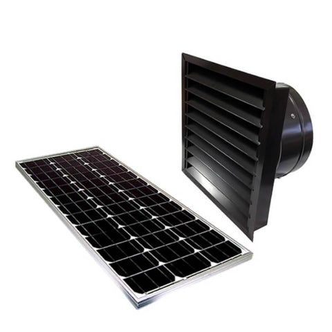 60 Watts Wall Mount GEN 2 Solar Attic Fans From Attic Breeze AB-6062