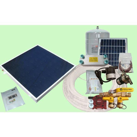 Image of Heliatos Boat Freeze Protected Solar Water Heating Kit: With External Heat Exchanger