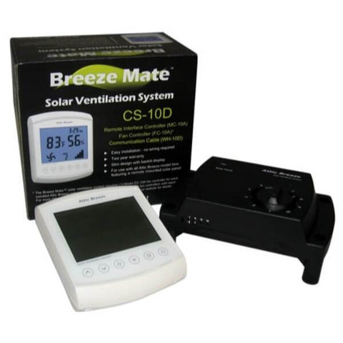 Attic Breeze Mate Remote Control System - Self Flashing & Curb Mount Detached Models or Wall/Gable Mount