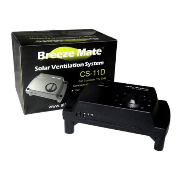 Attic Breeze Mate Solar Fan Controller - Self Flashing & Curb Mount Detached Models or Wall/Gable Mount