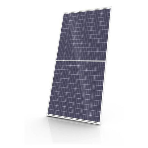 Canadian Solar KuMax 335W Polycrystalline 144 Cell Clear Frame on White Backsheet Solar Panel CS3U-335P