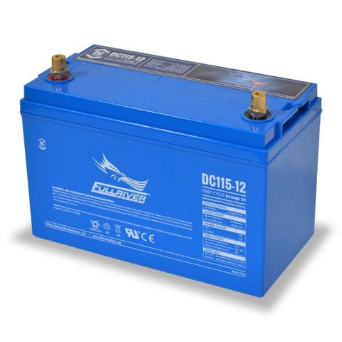 Image of Fullriver 115Ah 12V AGM Sealed Lead Acid Battery