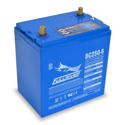 Image of Fullriver 250Ah 6V AGM Sealed Lead Acid Battery
