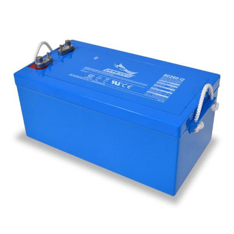 Image of Fullriver 260 Amp Hours (@ C/20) 12 Volt AGM Sealed Lead Acid Battery DC260-12