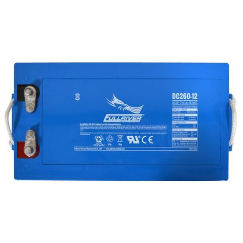 Image of Fullriver 260Ah 12V AGM Sealed Lead Acid Battery
