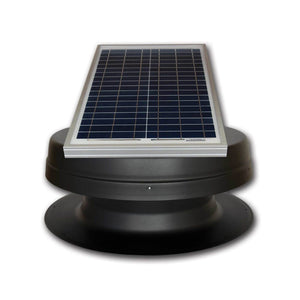 Elite 20W Solar Attic Exhaust Fan Adj. Panel Tilted Front View