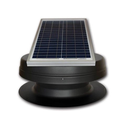 Image of Elite 20W Solar Attic Exhaust Fan Adj. Panel Tilted Front View