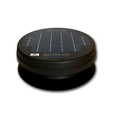 Elite 20W Solar Attic Exhaust Fan Recessed Panel Front View