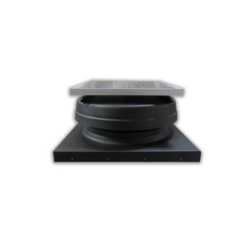 Elite 30W Solar Attic Exhaust Fan Adj. Panel Flat Front View-Curb Flashing