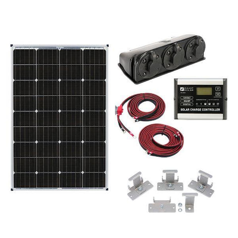 Image of Zamp Solar 115W Deluxe RV Roof Mounted Solar Kit