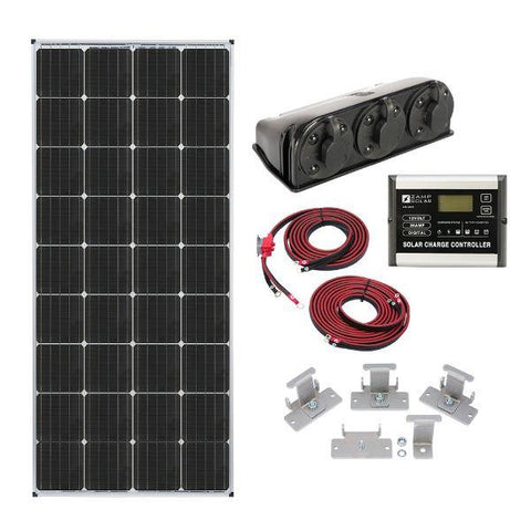 Image of Zamp Solar 170W Deluxe RV Roof Mounted Solar Kit