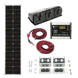 Zamp Solar 90W Long Roof Mount Solar Kit