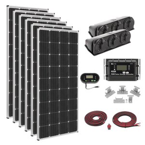 Zamp Solar 1020W Deluxe RV Roof Mounted Solar Kit