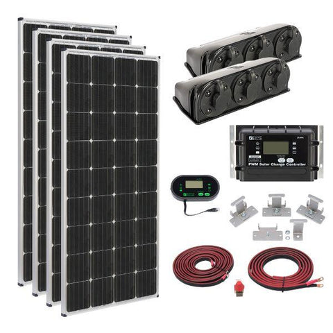 Image of Zamp Solar 680W Deluxe RV Roof Mounted Solar Kit