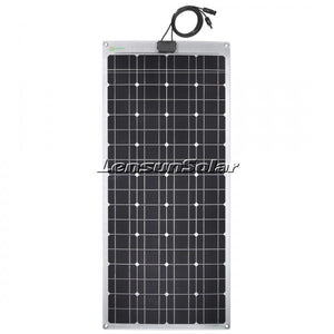 Lensun® 100W 12V Black Flexible Solar Panel - Aluminum Back Sheet