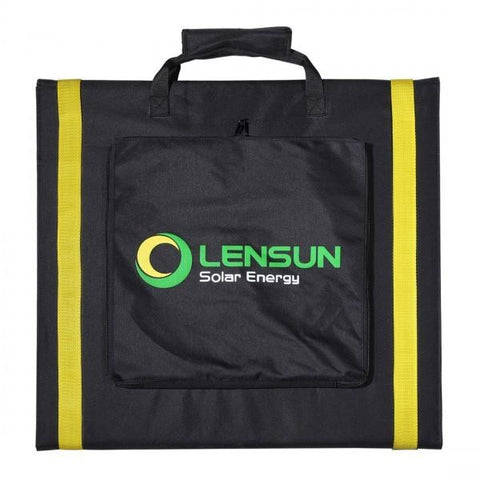 Lensun 160W 12V Ultralight Folding Solar Panel - Black Back Sheet