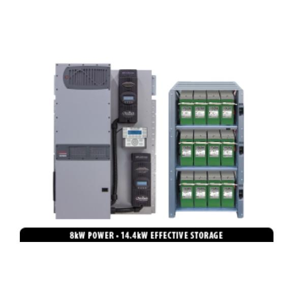 SystemEdge Off-Grid Villa Series SE-820PLC Pre-Bundled Solution - Solar + Energy Storage
