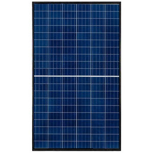 REC 290 Watts Polycrystalline TwinPeak2 Series Solar Panel with Black Frame & White Back Sheet REC290TP2 - Front