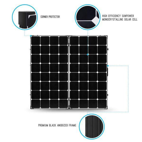 Image of Renogy 200 Watt Eclipse Monocrystalline Solar Suitcase