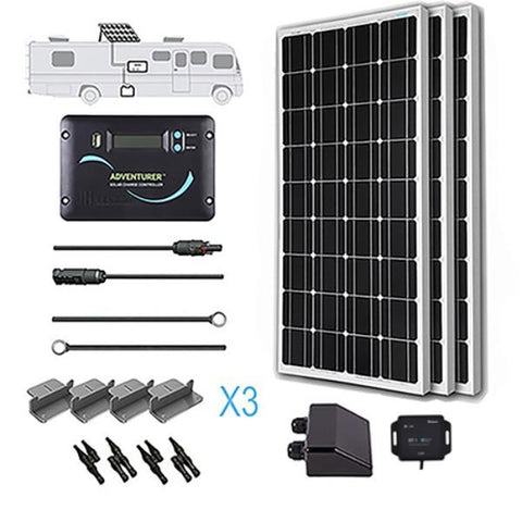Image of Renogy 300 Watt 12 Volt Solar RV Kit (Mono)