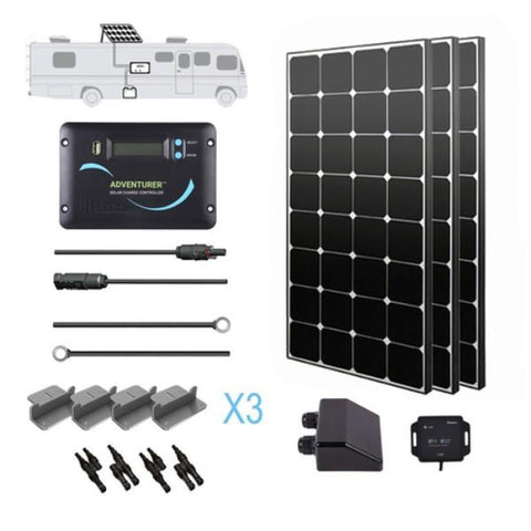 Renogy 300 Watt 12 Volt Solar RV Kit (Eclipse)