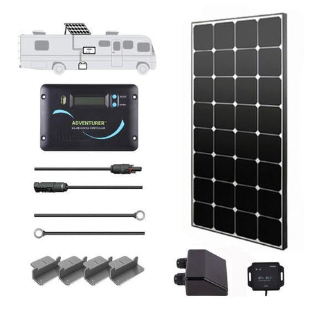 Image of Renogy 100 Watt 12 Volt Eclipse Solar RV Kit