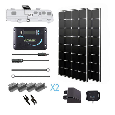 Image of Renogy 200 Watt 12 Volt Eclipse Solar RV Kit