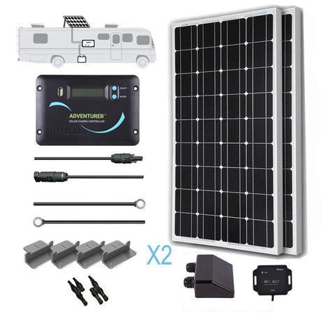 Image of Renogy 200 Watt 12 Volt Mono Solar RV Kit