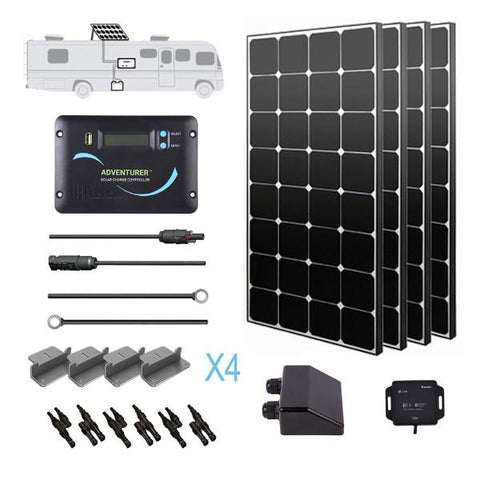 Image of Renogy 400 Watt 12 Volt Solar RV Kit (Eclipse)