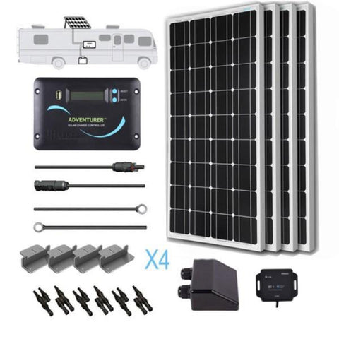 Image of Renogy 400 Watt 12 Volt Solar RV Kit (Mono)