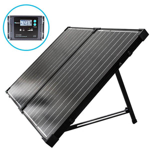 100W Foldable Solar Suitcase With Charge Controller From Renogy - 12V