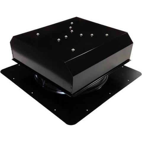 Image of Self-Flashing 60 Watt Detached GEN 2 Solar Attic Fans From Attic Breeze AB-6022D - Black