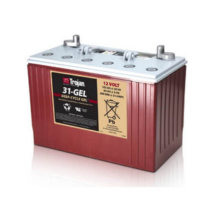 Trojan 102 Amp Hours (@ C/20) 12 Volt Gel Deep Cycle Battery 31-GEL