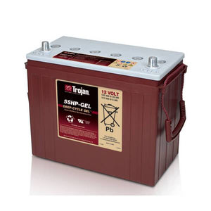 Trojan 125 Amp Hours (@ C/20) 12 Volt Gel Deep Cycle Battery 5SHP-GEL