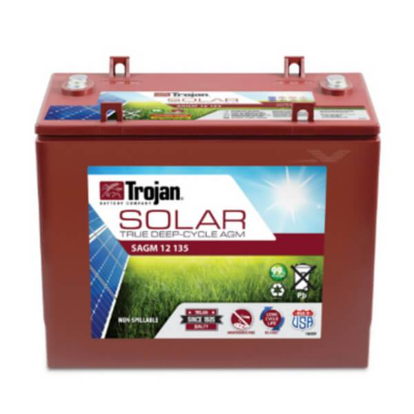 Trojan 135 Amp Hours (@ C/20) 12 Volt AGM Deep Cycle Battery SAGM 12 135
