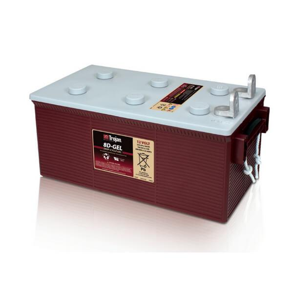 Trojan 225ah 12v Gel Deep Cycle Battery Solartech Direct