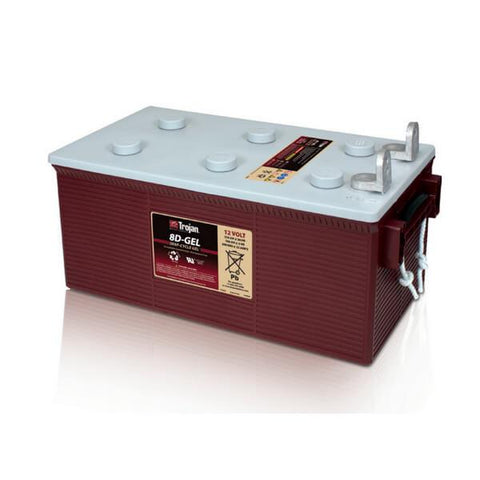 Trojan 210 Amp Hours (@ C/20) 12 Volt Gel Deep Cycle Battery 8D-GEL