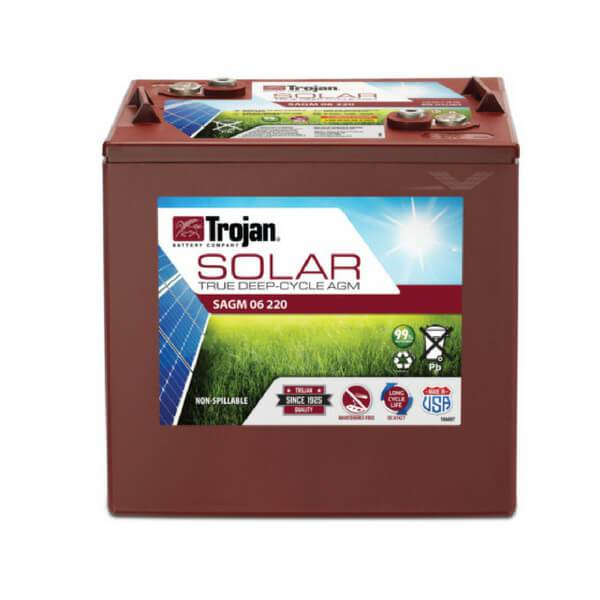 Trojan 220 Amp Hours (@ C/20) 6 Volt AGM Deep Cycle Battery SAGM 06 220