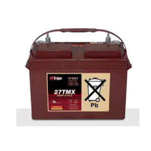 Trojan 105 Amp Hours (@ C/20) 12 Volt Flooded Lead Acid Battery 27TMX