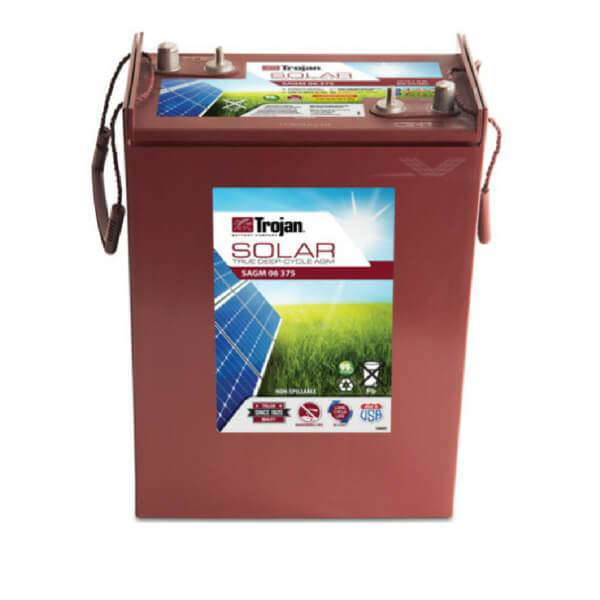 Trojan 375 Amp Hours (@ C/20) 6 Volt AGM Deep Cycle Battery SAGM 06 375
