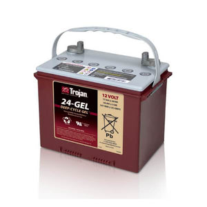 Trojan 77 Amp Hours (@ C/20) 12 Volt Gel Deep Cycle Battery 24-GEL