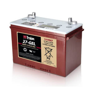 Trojan 91 Amp Hours (@ C/20) 12 Volt Gel Deep Cycle Battery 27-GEL