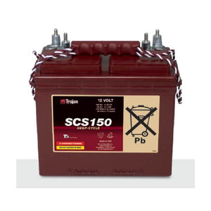 Trojan 100 Amp Hours (@ C/20) 12 Volt Marine/RV Line Flooded Lead Acid Battery SCS150