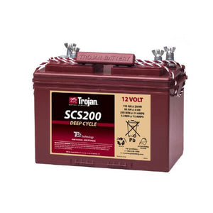 Trojan 115 Amp Hours (@ C/20) 12 Volt Marine/RV Line Flooded Lead Acid Battery SCS200