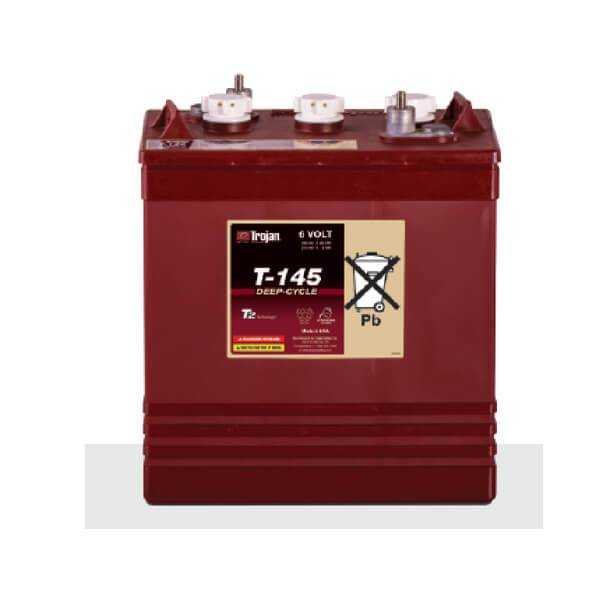Trojan 260 Amp Hours (@ C/20) 6 Volt Flooded Lead Acid Battery T-145