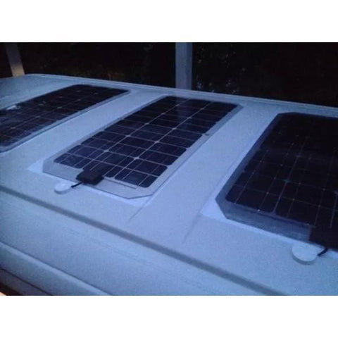 Image of Lensun® 100W 12V Black Flexible Solar Panel - Aluminum Back Sheet